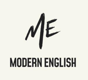 Modern english logo