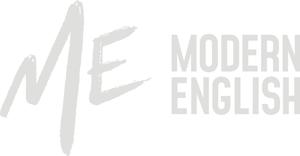 ME modern english logo